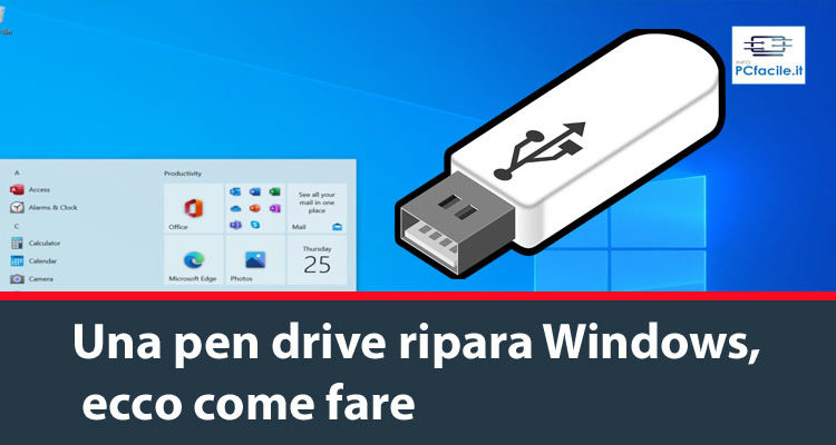 Una pen drive ripara Windows, ecco come fare