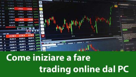 iniziare a fare trading online dal PC