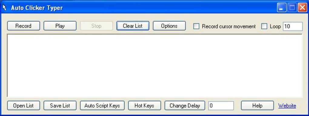 Auto clickertype