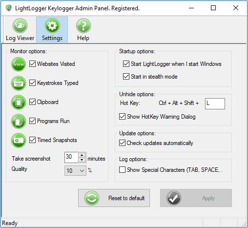 Light Logger Keylogger
