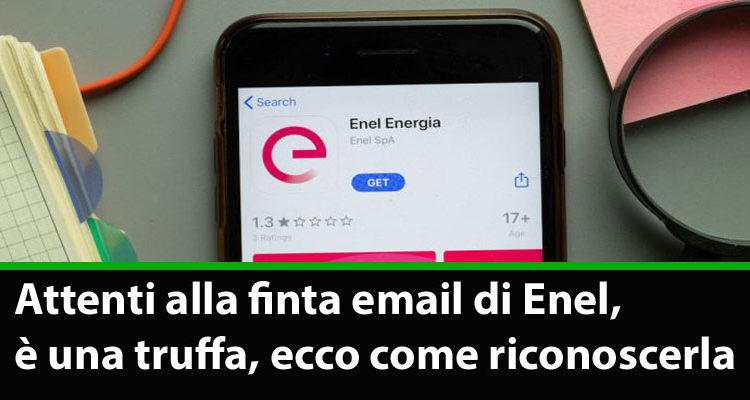Avviso della Polizia: attenti alla finta email di Enel, è una truffa
