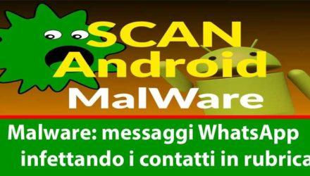 Malware Android si diffonde via messaggi WhatsApp