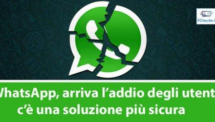 whatsapp arriva l'addio degli utenti