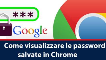 visualizzare le password da google crome
