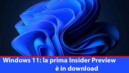 la prima Insider Preview è in download
