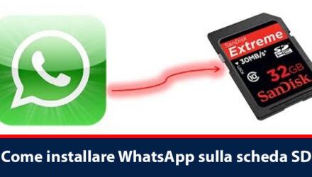 Come installare WhatsApp sulla scheda SD