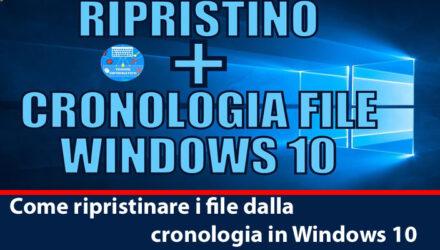 cronologia windows 10